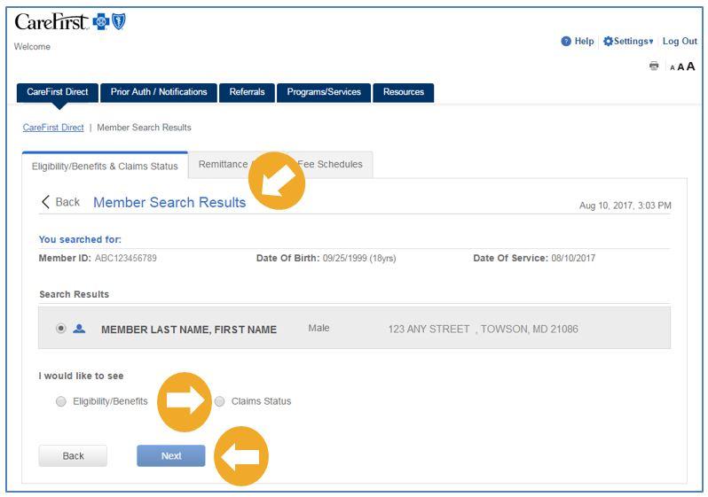 Provider Portal User's Guide - Claim Status