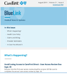 Cover of BlueLink August 2019 issue