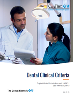 Dental Clinical Criteria Cover