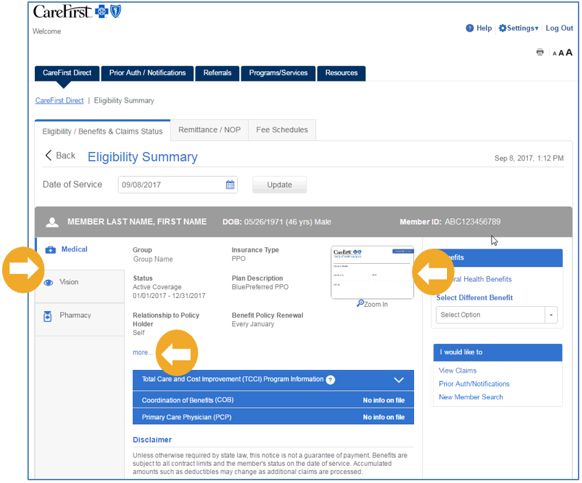 Provider Portal User S Guide Eligibility And Benefits
