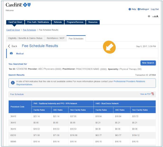 Provider Portal User's Guide - Fee Schedules